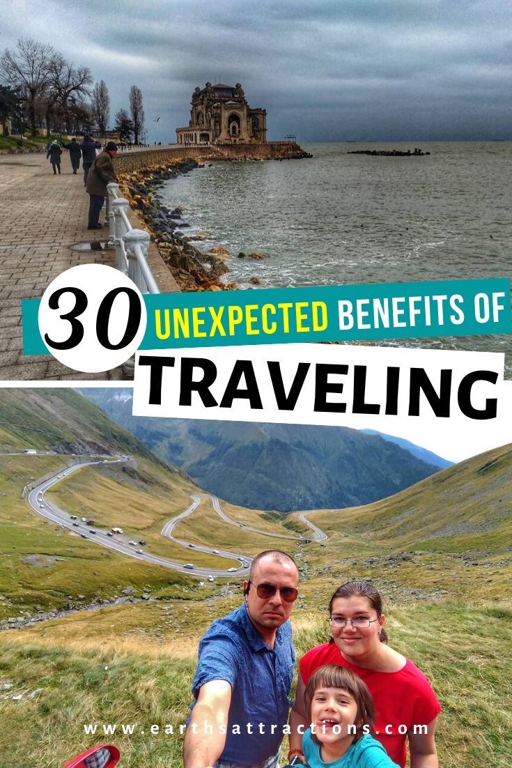 30 Unexpected benefits of travelling. Discover why travel is good for you! These are the top benefits of traveling! Travel is good for your health! #travel #traveltips #travelhack #earthsattractions #ilovetotravel #health #traveltherapy