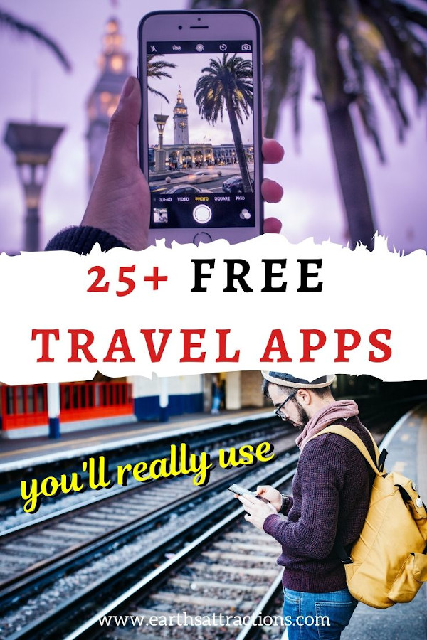 25+ Best free travel apps you should download before your next trip! These free travel apps you'll really use on your trip will save you time and money and will make your vacations smoother. #travelapp #travelapps #free #freetravelapps #freeapps #smartphone #earthsattractions