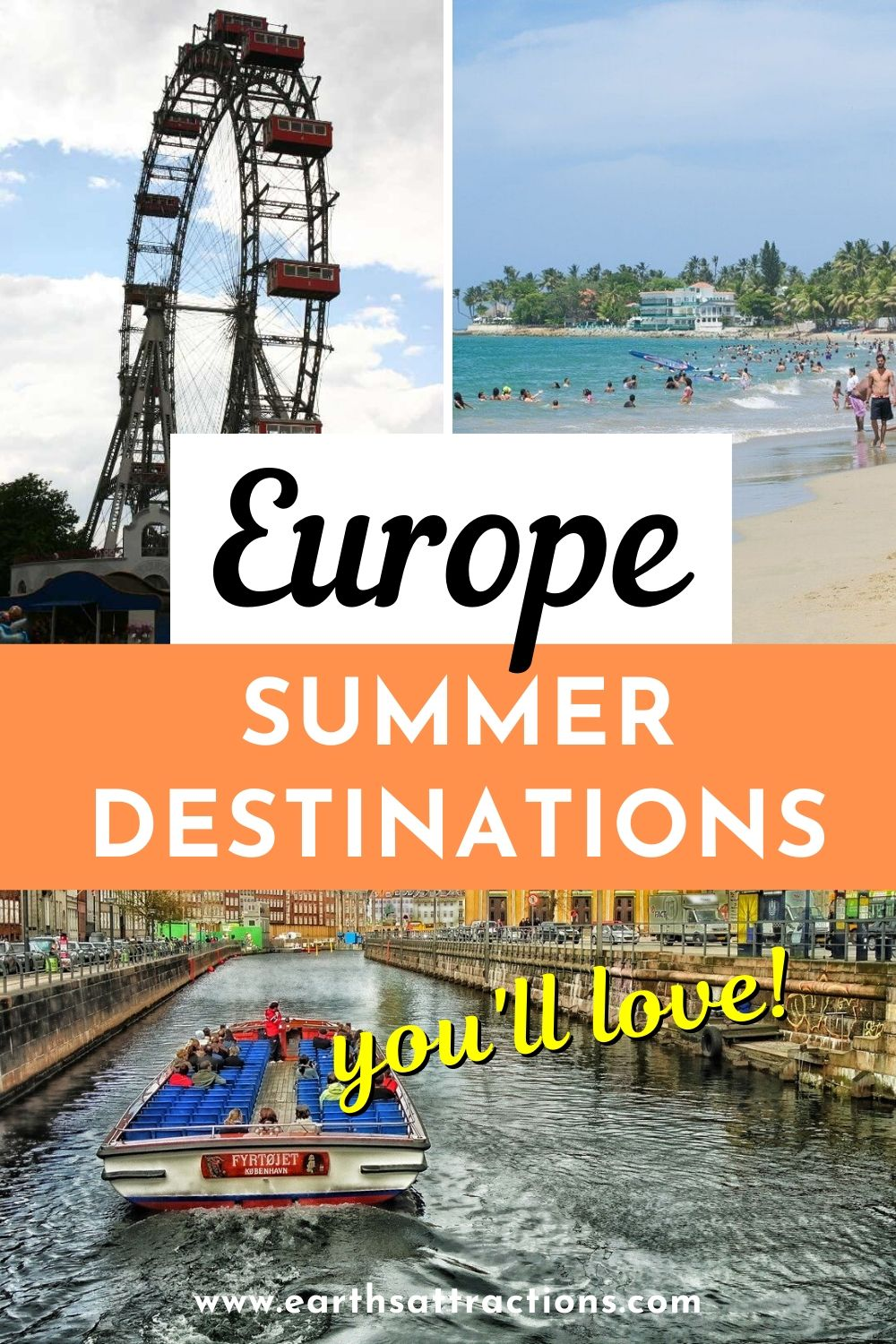 Best European summer destinations. Discover the top places for a summer holiday in Europe. These are the best summer getaways in Europe. Find out now 40 places to spend your summer holiday in Europe #europe #summervacation #europesummer #earthsattractions #summerholiday #europeholiday
