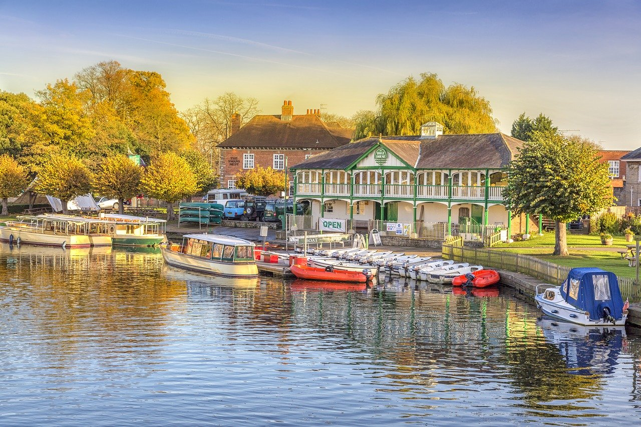Stratford-upon-Avon in Warwickshire, England is one of the best places to visit in Europe in the summer