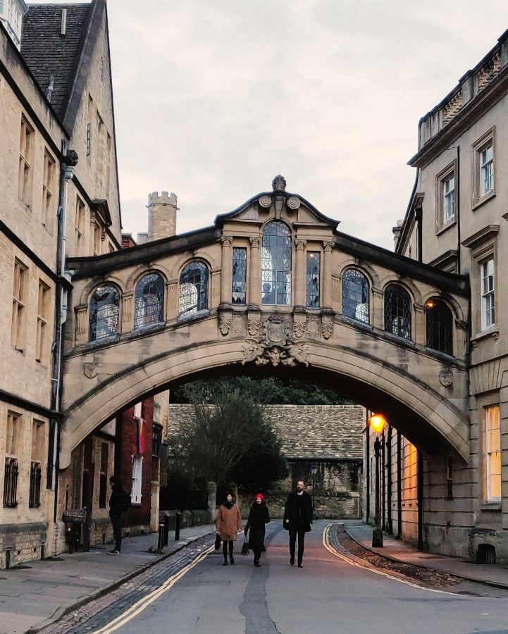 The Bridge of Sighs is one of the romantic spots in Oxford and one of the best things to see when you visit Oxford