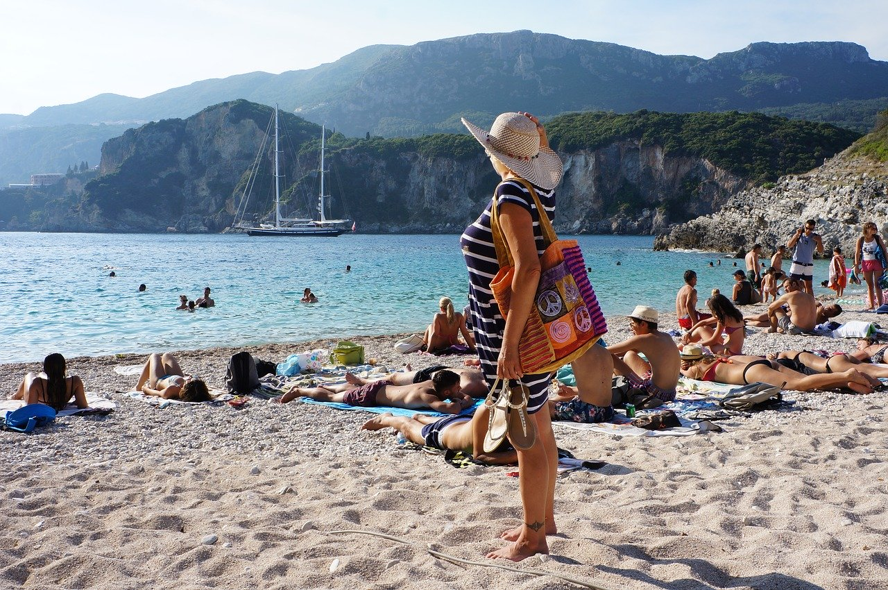 Go to a Corfu beach as this is one of the best things to do in Corfu, Greece