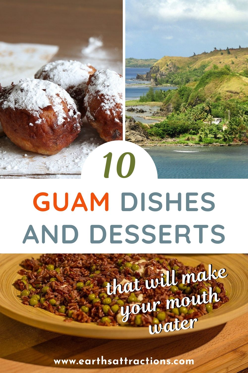 What to eat in Guam. Discover the best Guamanian dishes and desserts that will make your mouth water. These Guam dishes are a must-try on your trip to Guam. The best Chamorro desserts and Chamorro dishes are included! #chamorro #guam #guamfood #guamdesserts #guamdis #guamaniandishes #earthsattractions #food #travel #traveldestinations #oceania