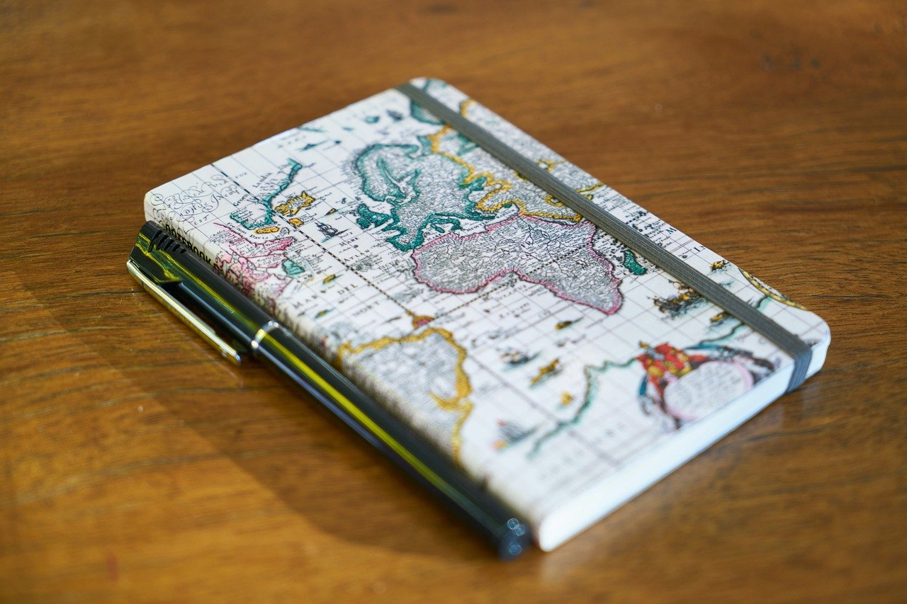 A notebook and a pen are among my top things to pack for a trip