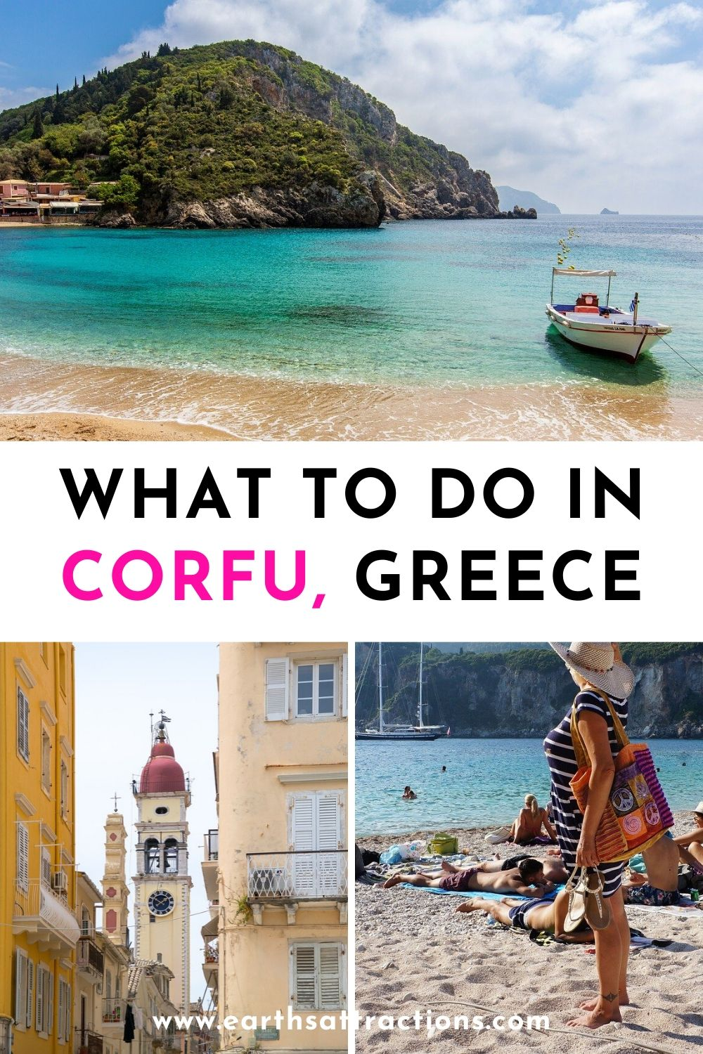 Wondering what to do in Corfu, Greece? Read this article and find out the top things to do in Corfu on your first trip. Cool Corfu activities included! #corfu #greece #europe #traveldestinations #remotedestinations #greekislands #earthsattractions #thingstodo #greecetravel