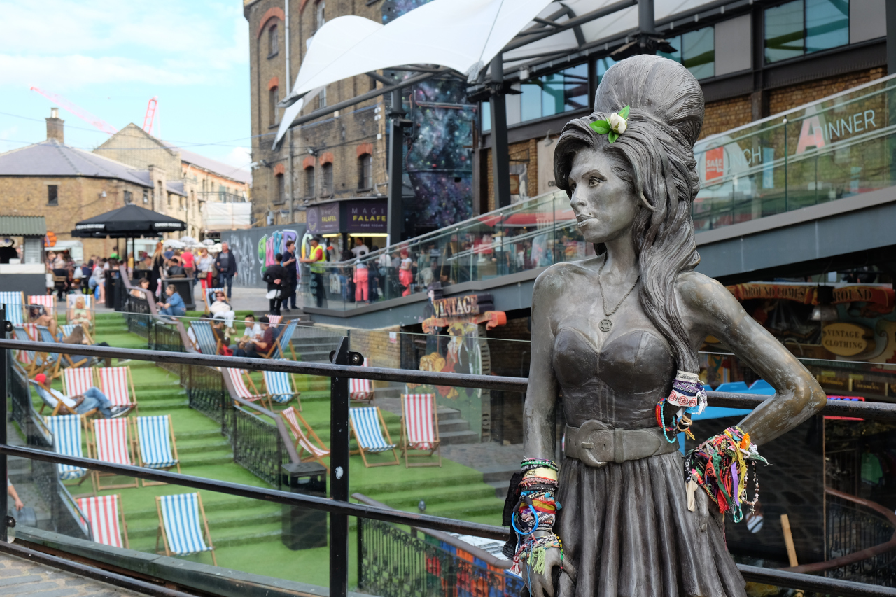 Amy Winehouse statue - Camden Lock - is one of the best places to visit in London in 3 days
