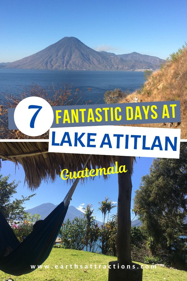7-day itinerary for Lake Atitlan Guatemala. Discover the best things to do in one week in Lake Atitlan. This Lake Atitlan guide includes the best villages in Lake Atitlan, useful travel tips for Lake Atitlan, and your Lake Atitlan attractions budget. #lakeatitlan #atitlanguide #atitlanitinerary #atitlanguatemala #earthsattractions #travelguides #america #centralamerica #traveldestinations