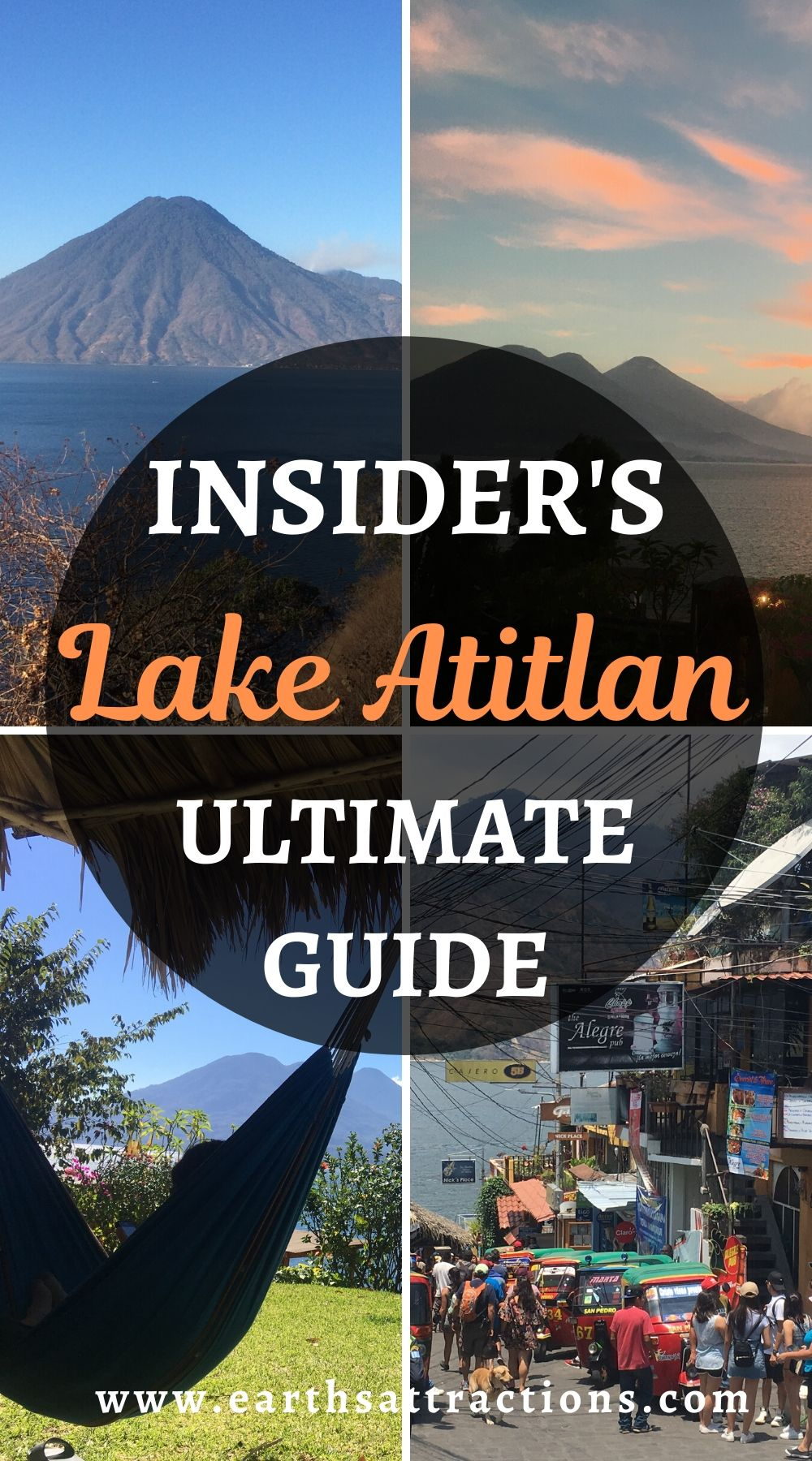 Insider's guide to Lake Atitlan. Discover the best things to do in Lake Atitlan in 7 days. How to spend an amazing week in Lake Atitlan Guatemala, visiting the best Lake Atitlan villages, taking amazing Lake Atitlan hikes, and relaxing! #lakeatitlan #atitlanguide #atitlanitinerary #atitlanguatemala #earthsattractions #travelguides #america #centralamerica #traveldestinations