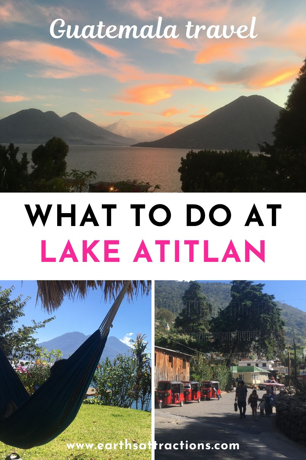 What to do in Lake Atitlan, Guatemala. Discover how to spend 7 days in Lake Atitlan and have a memorable Lake Atitlan holiday. Find out the best Lake Atitlan villages, top hikes near Lake Atitlan, and the best places to visit in 7 days in Lake Atitlan. #lakeatitlan #atitlanguide #atitlanitinerary #atitlanguatemala #earthsattractions #travelguides #america #centralamerica #traveldestinations