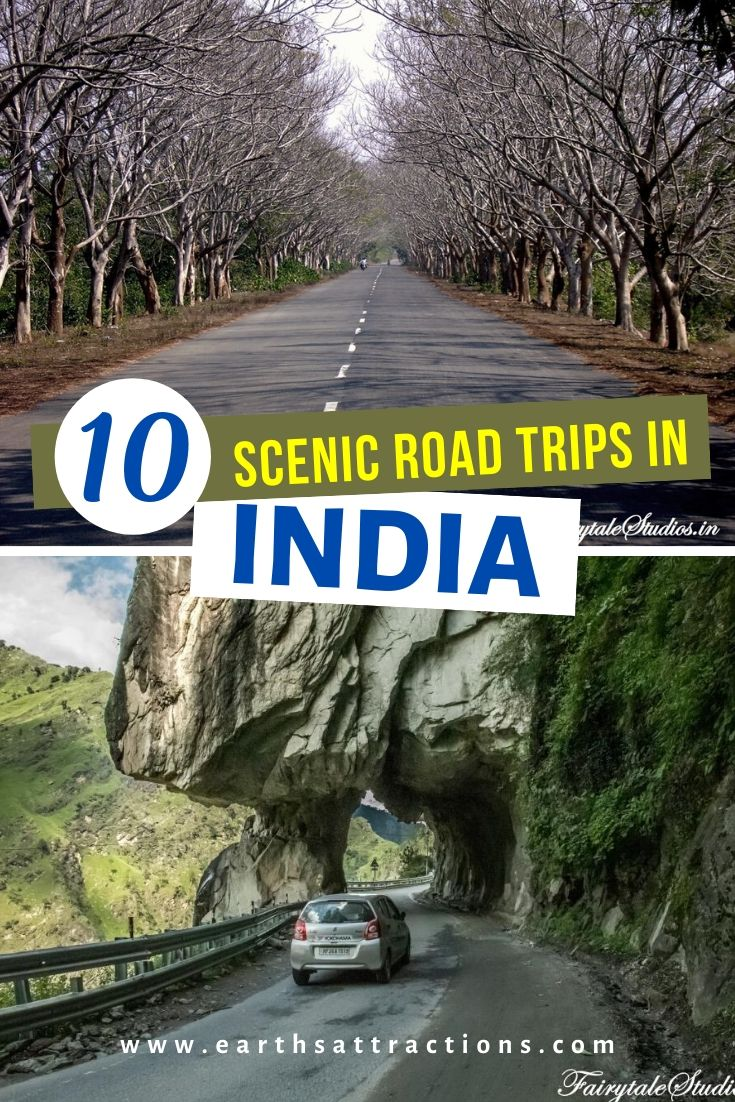 Discover 10 scenic drives in India that you'll love. These are the best road trips in India (on 2 wheels or 4 wheels). #india #indiatravel #earthsattractions #asiatravevl #roadtrips #indiaroadtrips