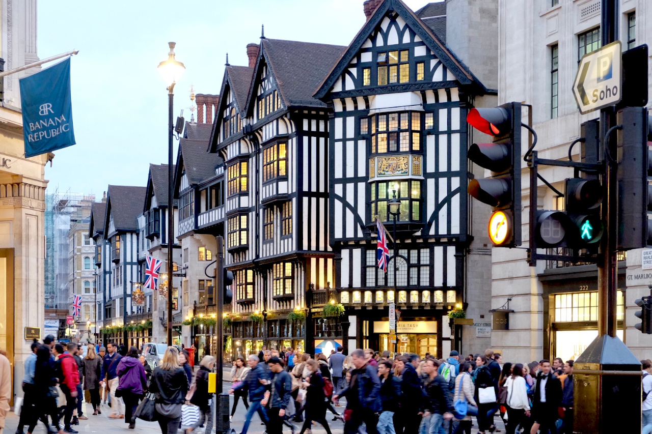 Liberty of London, the world-famous Tudor and London's oldest Department store, is one of the best things to see in London on your 3-day trip to London