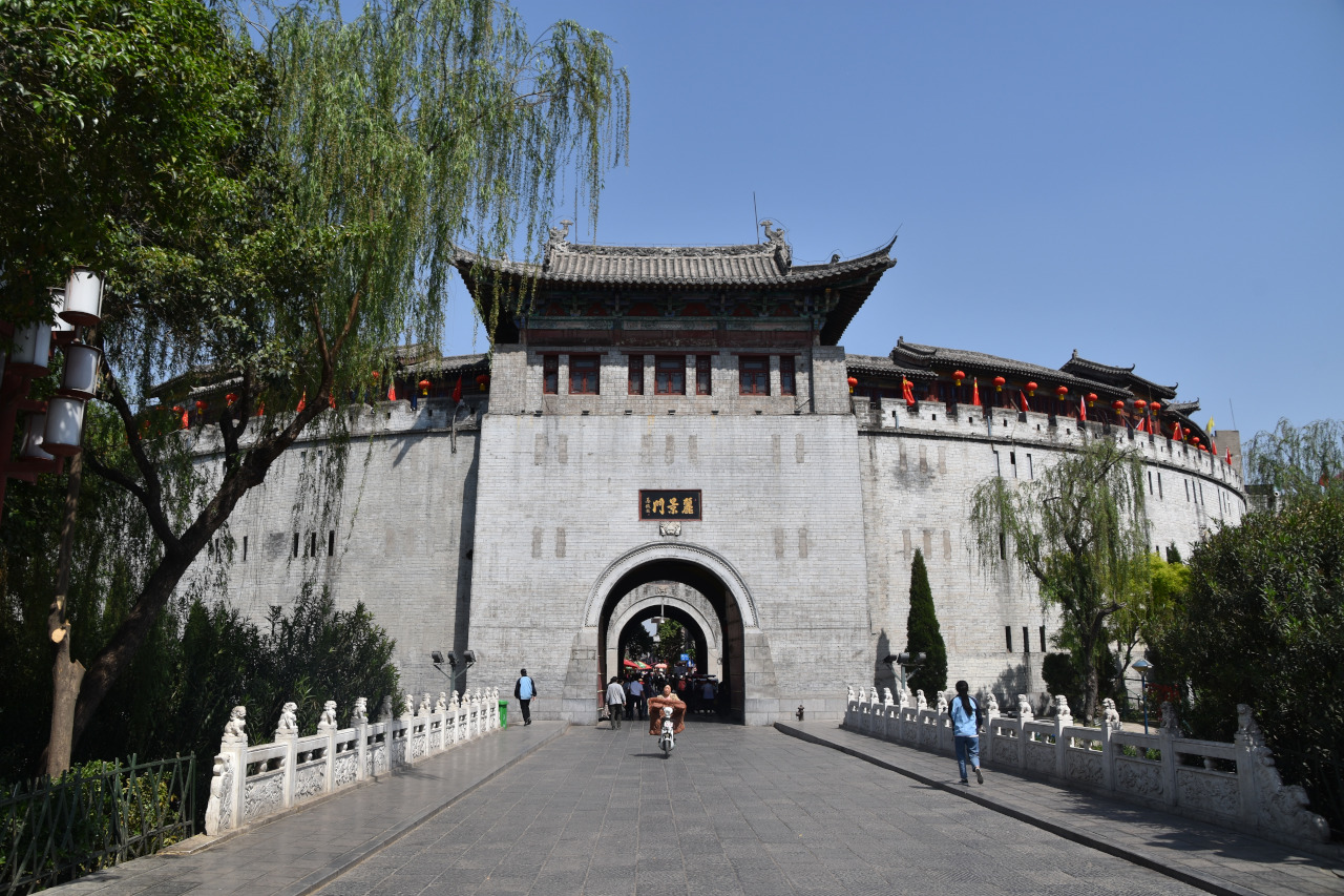 The entrance to Luoyang old town, the Lijiang Gate is one of the things to see in The entrance to Luoyang old town