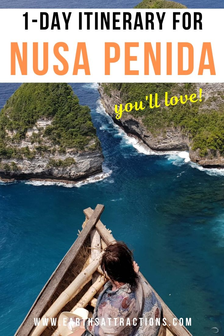 1-day itinerary for Nusa Penida. Discover the best things to do in Nusa Penida in 24 hours, Nusa Penida hotels, the best time to visit Nusa Penida and useful tips for visiting Nusa Penida. #nusapenida #nusapenidaitinerary #bali #indonesia #asiatravel #travelguides #travelitinerary #nusapenida1day #earthsattractions