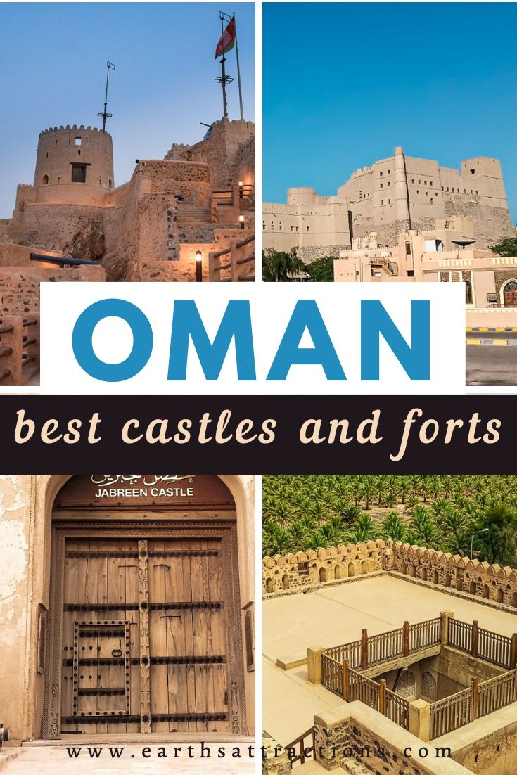 If you're planning a trip to Oman, you should include the best Oman forts and castles on your Oman itinerary. Here are the top 5 castles and forts in Oman. These are the best places to visit in Oman. #oman #asiatravel #omanforts #omancastles #earthsattractions #traveldestinations