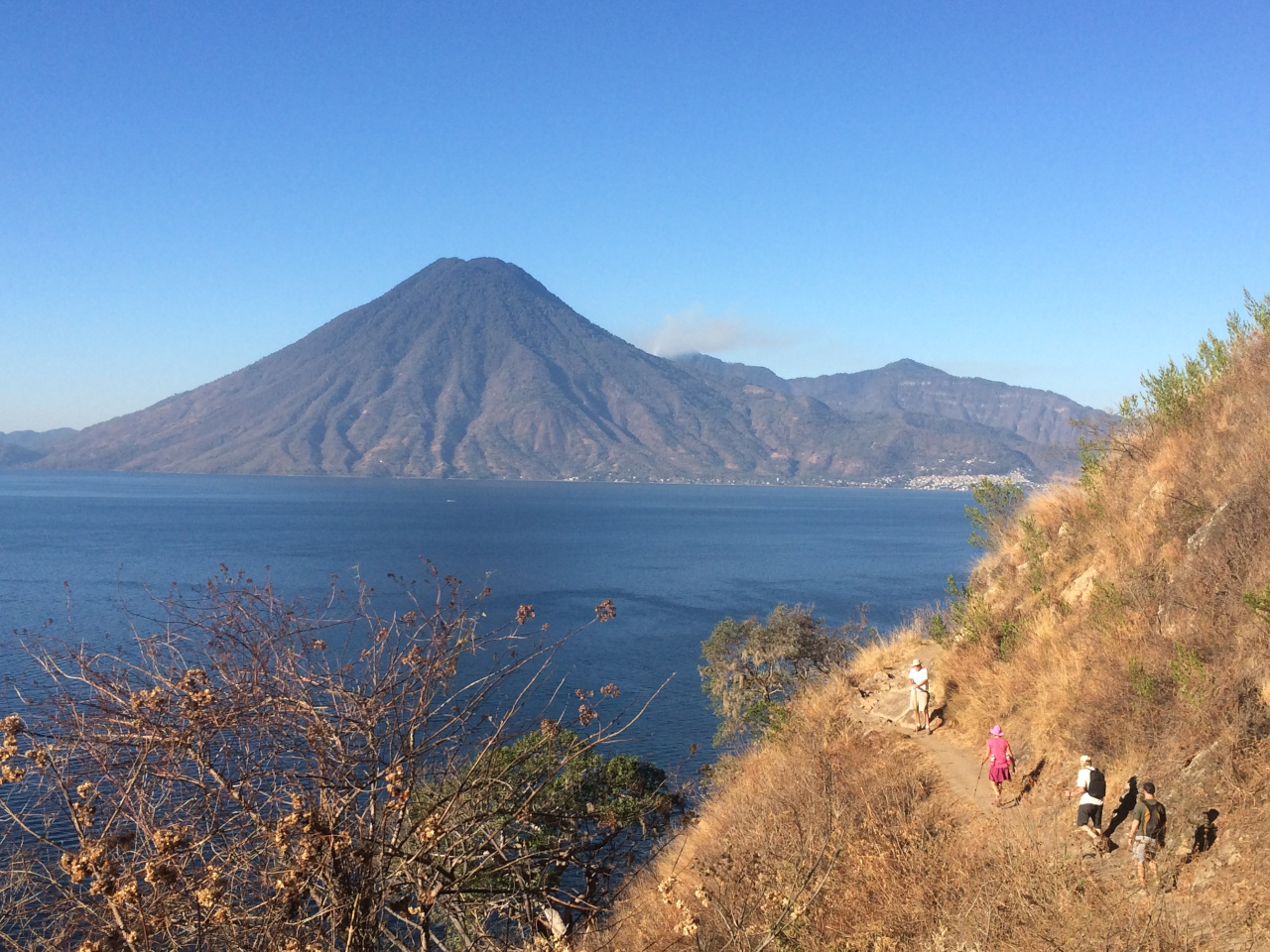Hiking from Santa Cruz to Tzununa is one of the best things to do in one week at Lake Atitlan, Guatemala
