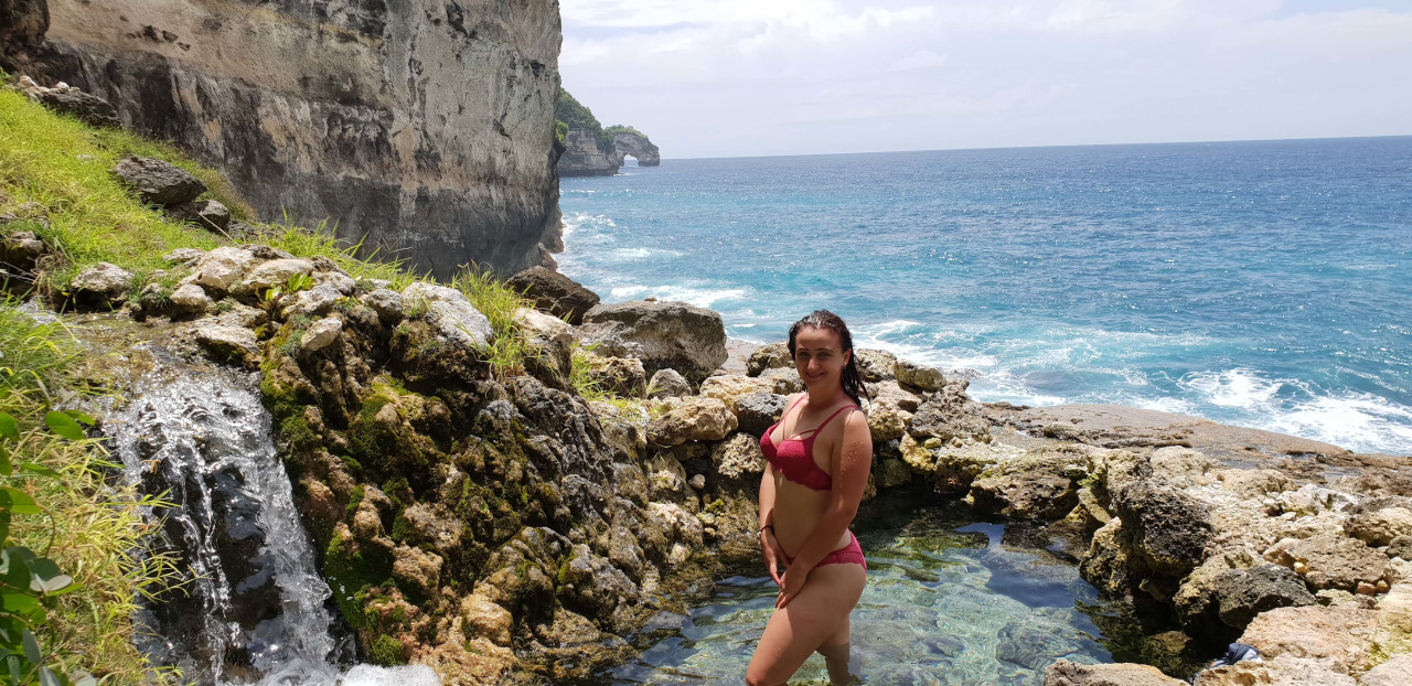 Seganing Waterfall along with its rock pool is a hidden gem of Nusa Penida