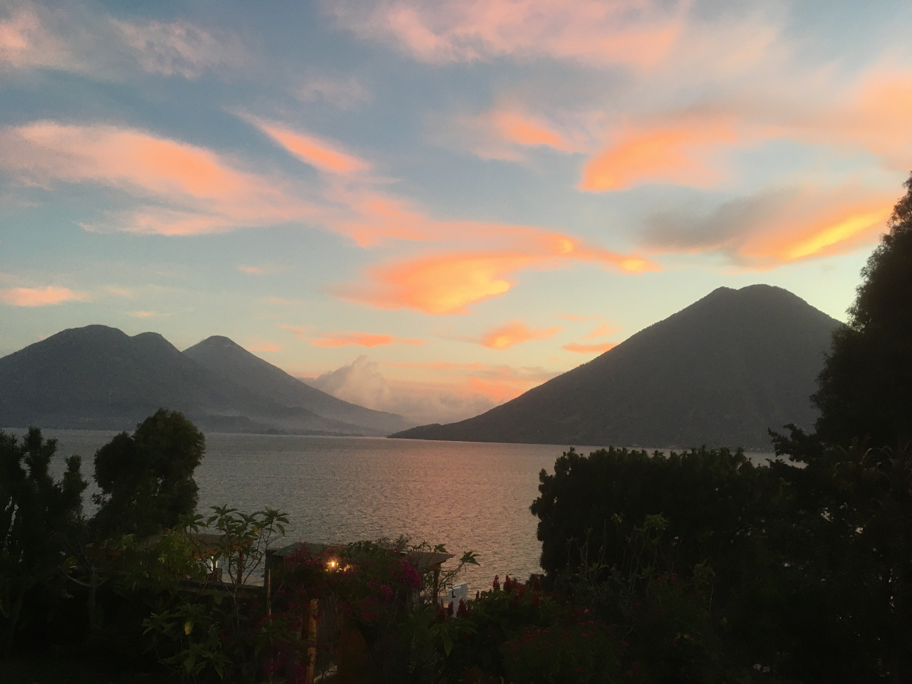 San Marcos la Laguna - sunset from Pasaj-cap. Discover what to do in Lake Atitlan in Guatemala
