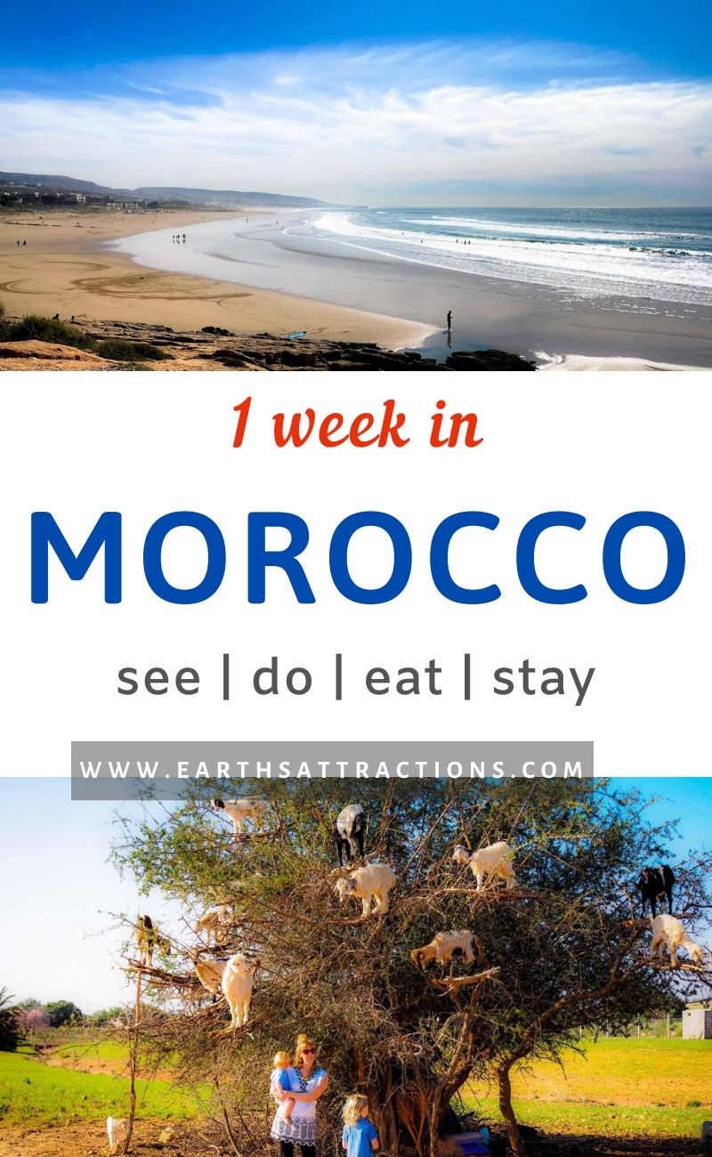 1 week in Morocco itineray. Find out from this insider's 7-day Morocco itinerary what to do in this country. Discover the culture, people, and the amazing places to visit in Morocco from this Morocco travel blog. #morocco #moroccoitinerary #itinerary #travelitinerary #africa #traveldestinations #earthsattractions