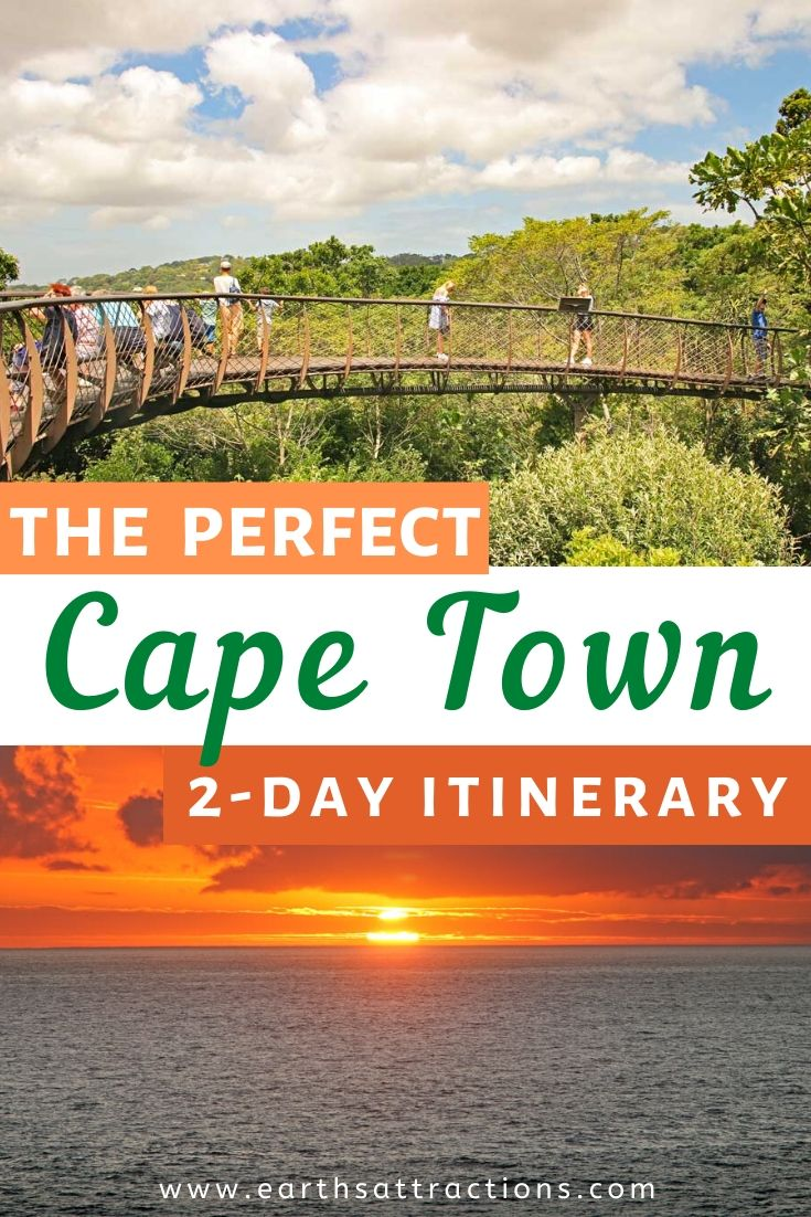 The perfect Cape Town 2-day itinerary. Here are the best things to do in Cape Town in 48 hours. This Cape Town itinerary by a local includes numerous outdoor attractions in Cape Town, as well as the Cape Town landmarks and more. Read the article now. #capetown #southafrica #capetownitinerary #itinerary #capetowntrip #traveldestinations #earthsattractions #capetownthingstodo