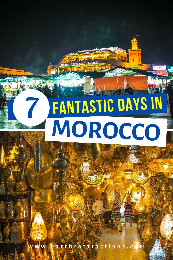 7 days in Morocco itinerary with the best things to do in Morocco. Find out the best Morocco travel destinations, bot famous and offbeat, from this insider's one week in Morocco itinerary. #morocco #moroccoitinerary #itinerary #travelitinerary #africa #traveldestinations #earthsattractions