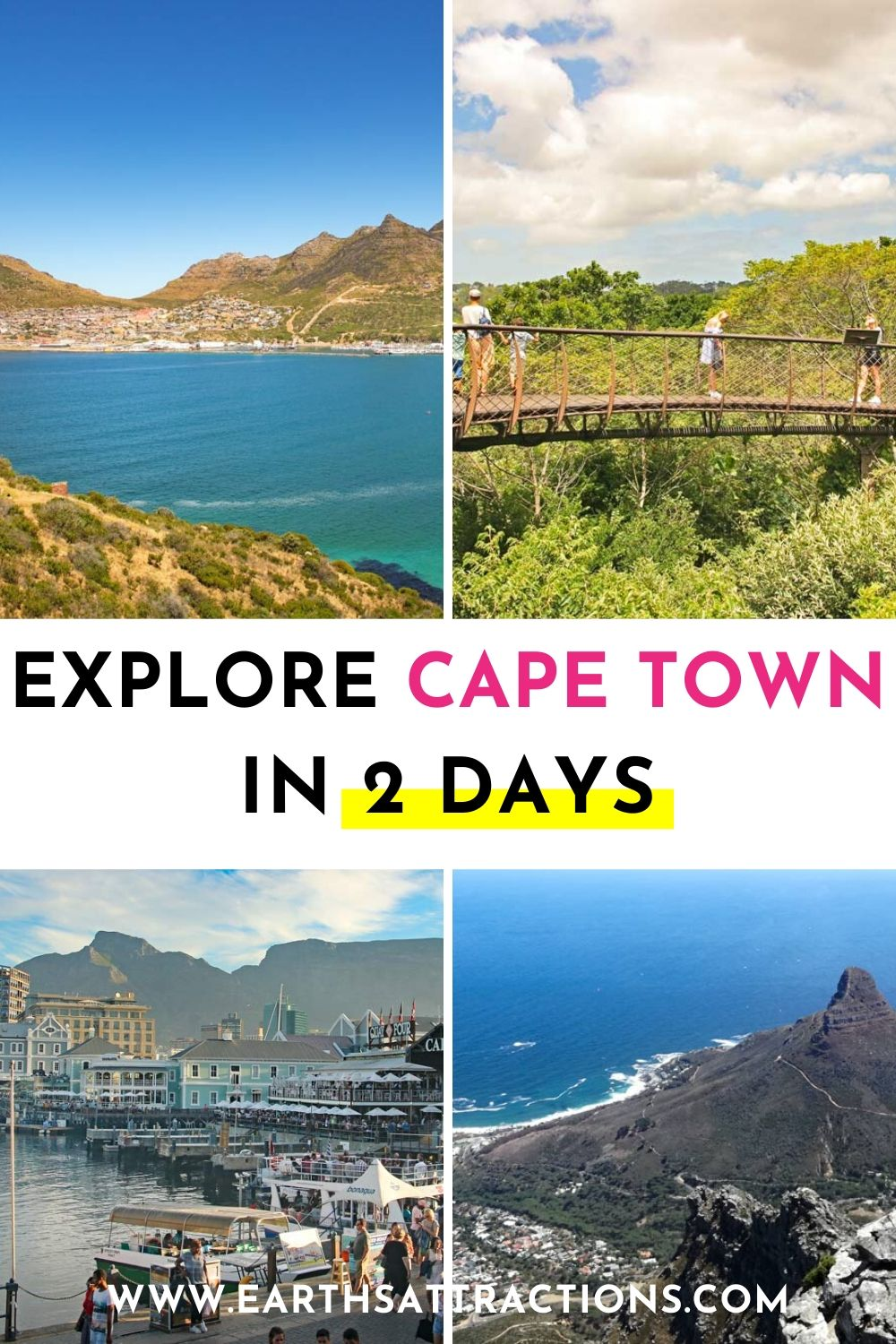 Explore Cape Town in 2 days. Discover the perfect Cape Town itinerary by a local. It includes the best places to visit in Cape Town in 2 days. #capetown #southafrica #capetownitinerary #itinerary #capetowntrip #traveldestinations #earthsattractions #capetownthingstodo