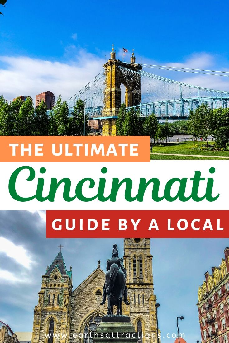 Local's guide to Cincinnati. This ultima Cincinnati travel guide shows you what you need to knoe before visiting Cincinnati, Ohio, USA, top Cincinnati attractions, offbeat Cincinnati things to do, cool hotels and restaurants. #cincinnati #ohio #cincinnatiguide #cincinnatithingstodo #usa #usatravel #ohiotravel #travelguides #earthsattractions #thingstodo #america
