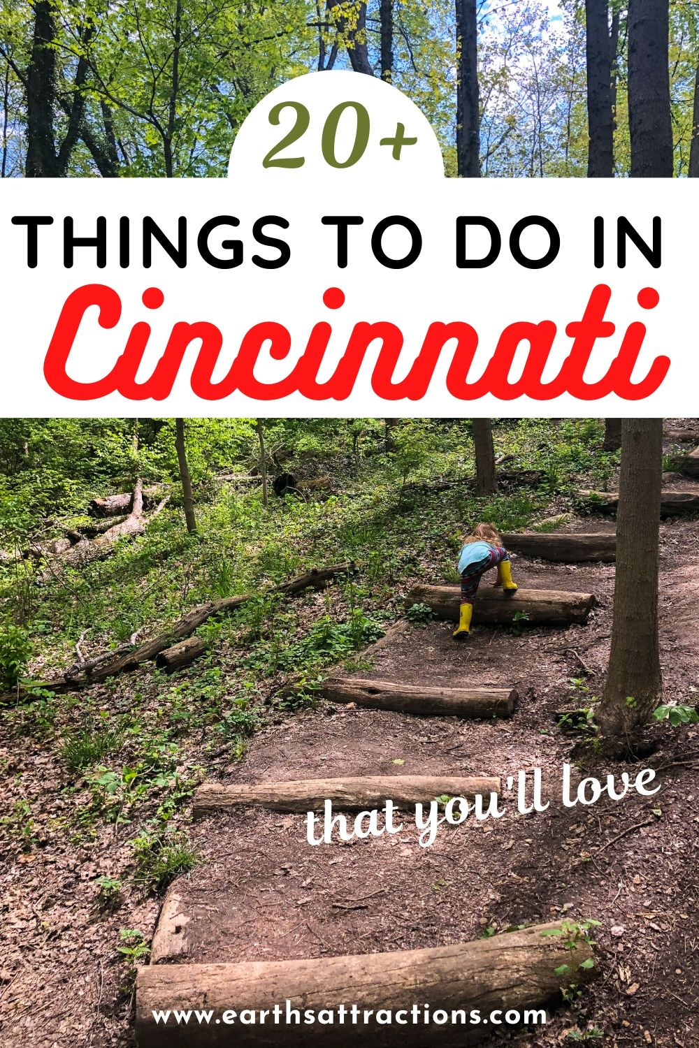 The best things to do in Cincinnati, Ohio, USA. This local's guide to Cincinnati shows you what to do in Cincinnati: famous Cincinnati attractions, offbeat Cincinnati activities, tips, restaurants, hotels, and more. Read this article now and create your Cincinnati bucket list! #cincinnati #ohio #cincinnatiguide #cincinnatithingstodo #usa #usatravel #ohiotravel #travelguides #earthsattractions #thingstodo #america