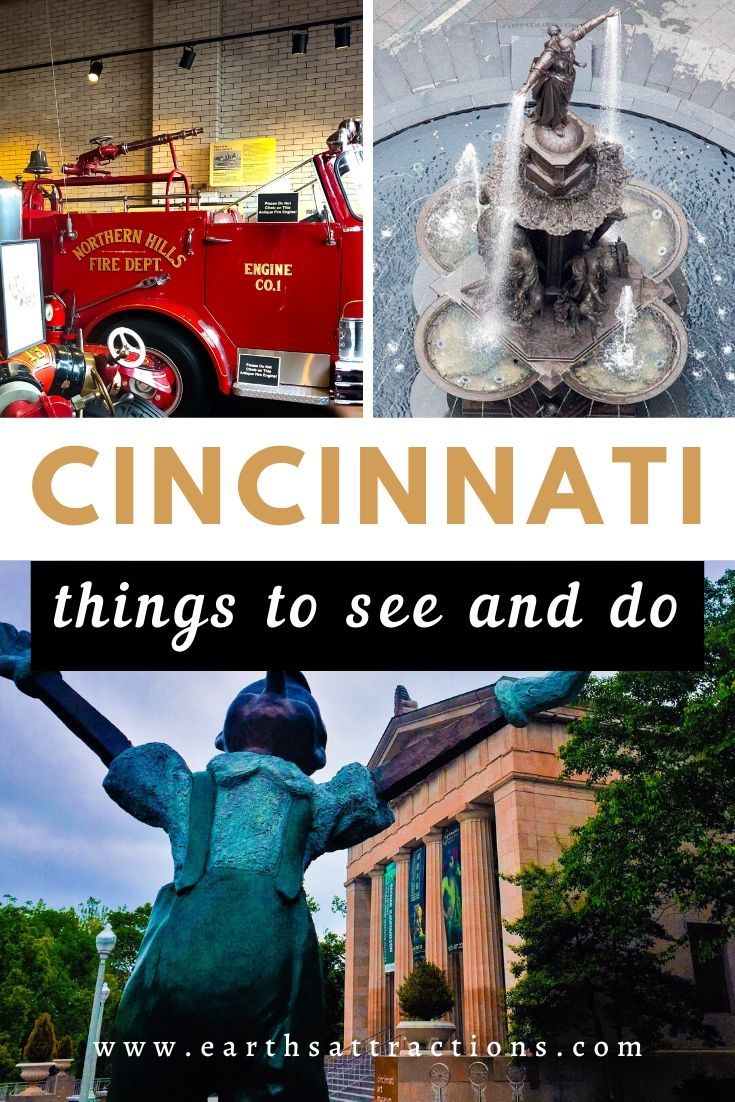The best places to visit in Cincinnati. This Cincinnati travel guide covers the best things to do in Cincinnati recommended by a local. Useful tips for Cincinnati, hotels, and restaurants are included as well. #cincinnati #ohio #cincinnatiguide #cincinnatithingstodo #usa #usatravel #ohiotravel #travelguides #earthsattractions #thingstodo #america