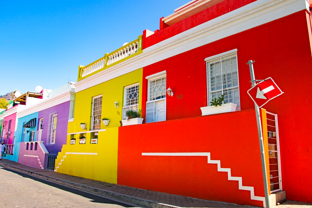 Bo Kaap is one of the oldest city neighborhoods and one of the best things to see in 2 days in Cape Town, South Africa