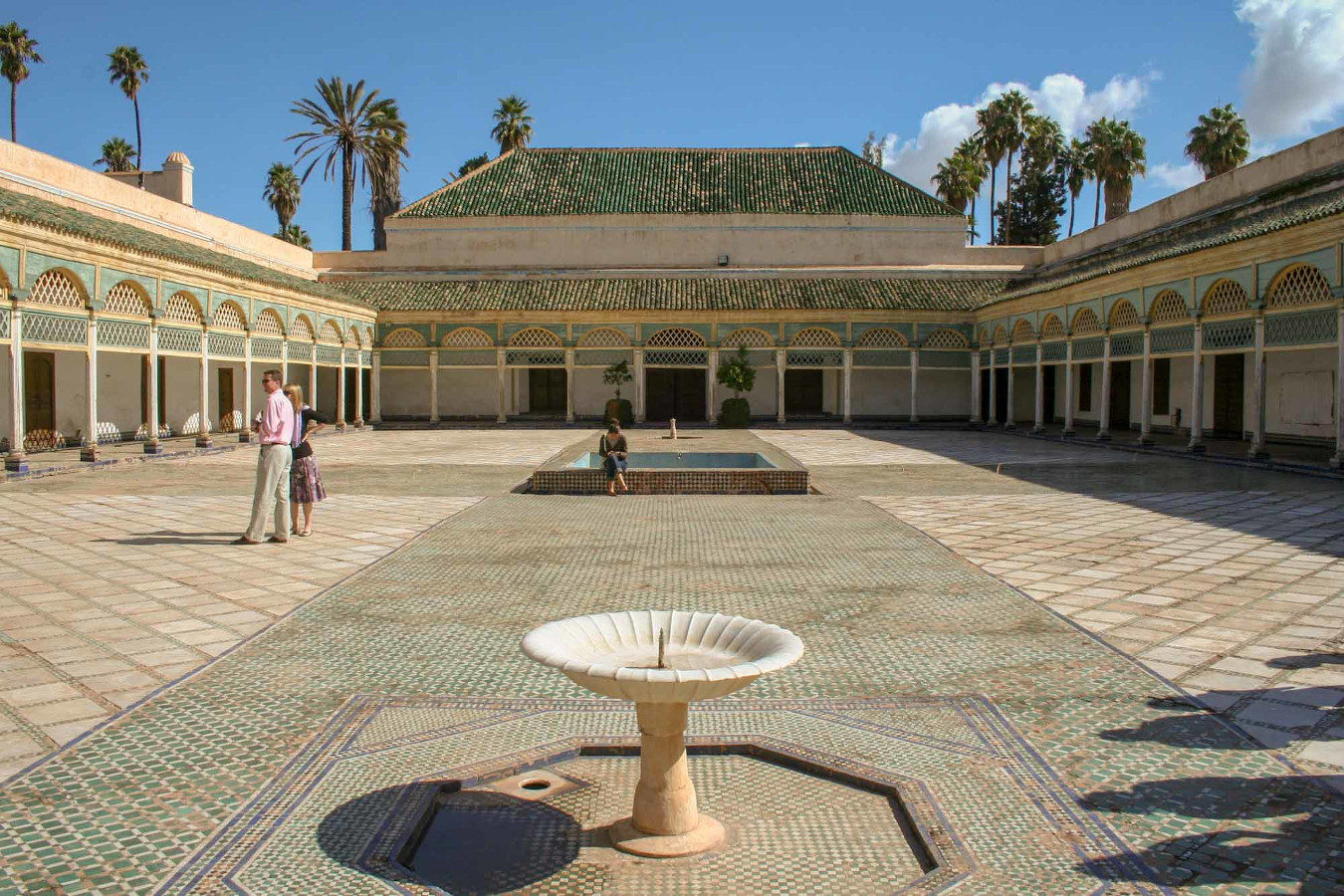 The Bahia Palace is one of the best places things to see in Marrakech, a city that is one of the best to include on your Morocco itinerary for 7 days