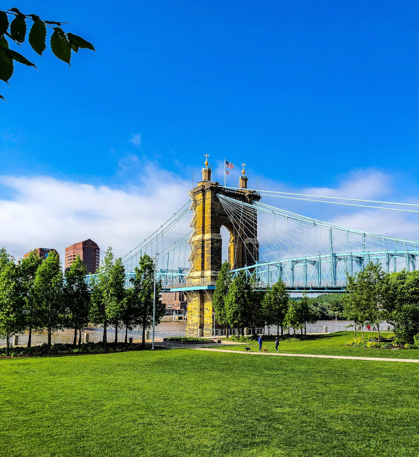 Smale Riverfront Park is one of the best things to see in Cincinnati USA