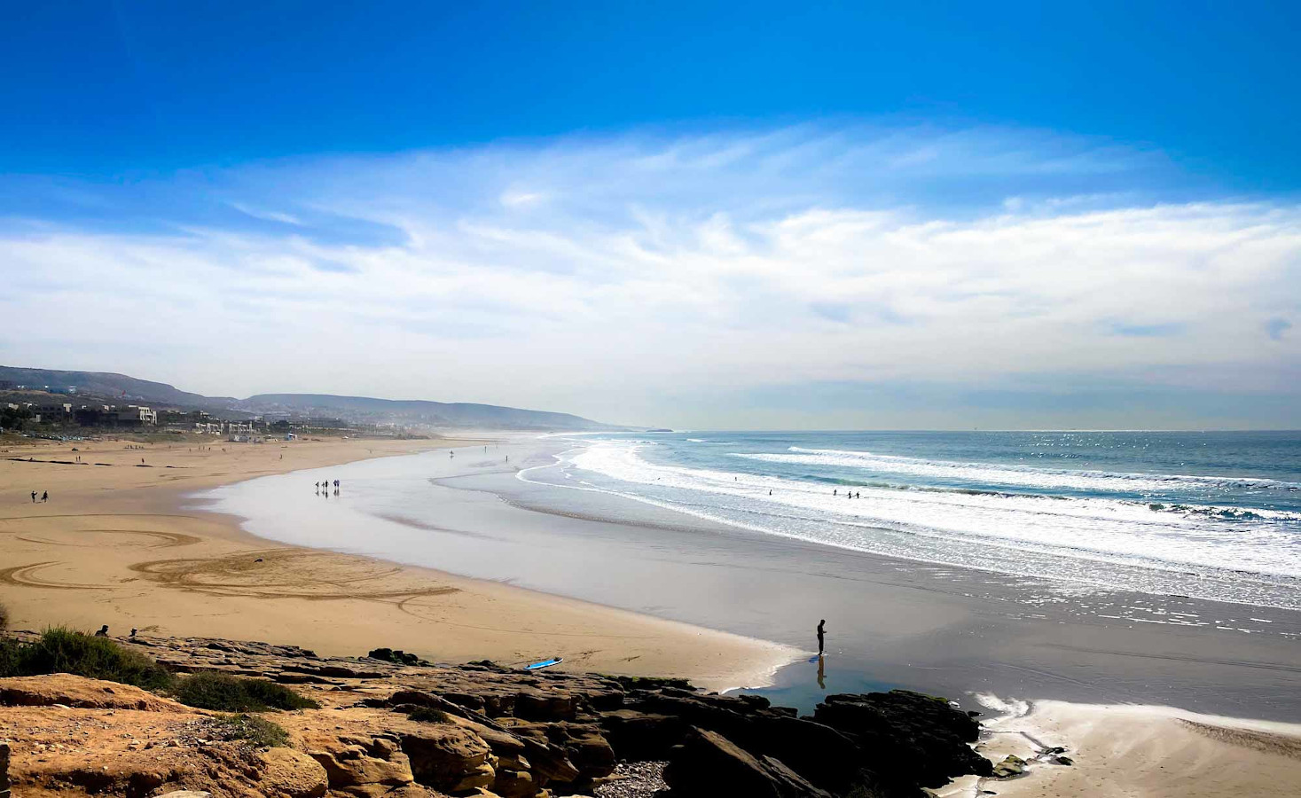 Check out Taghazout beach, one of the best places to visit on your Morocco one week trip
