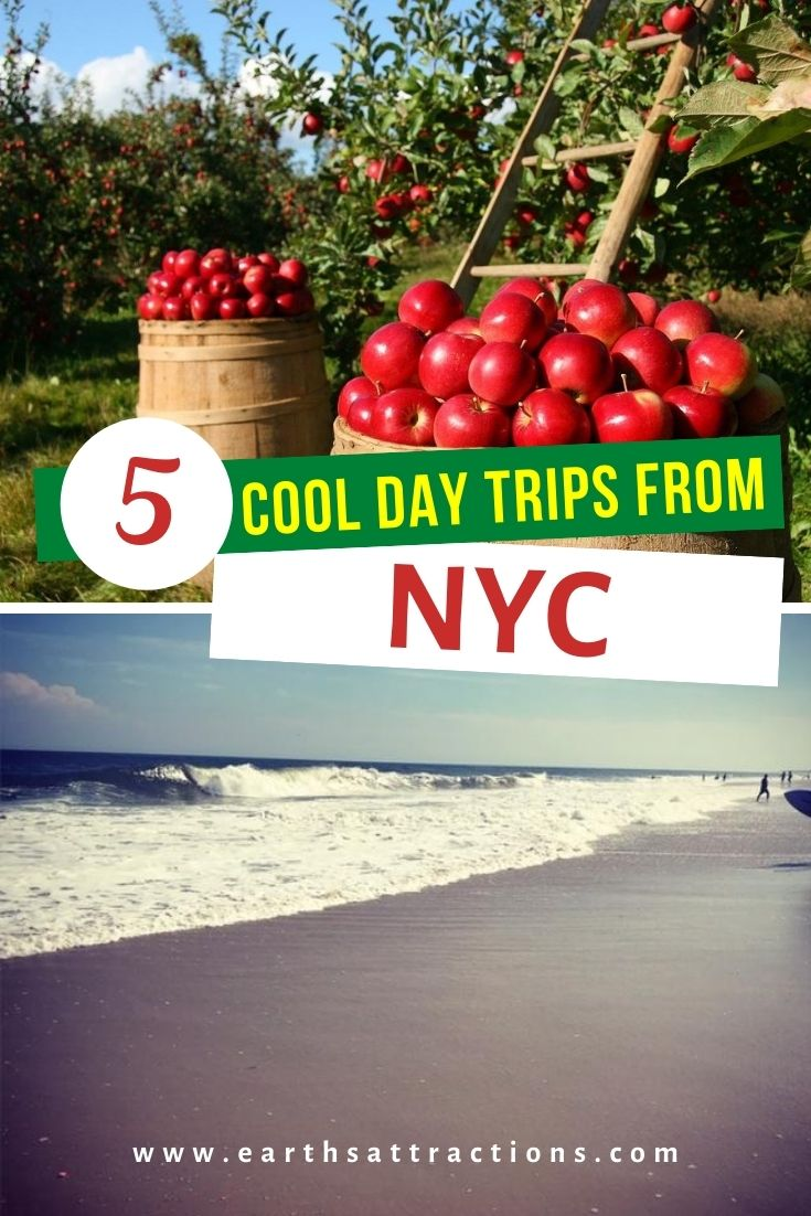 5 Cool day trips from New York City, USA. Discover the best places to visit near NYC and the tip things to do outside NYC. #nyc #nycdaytrips #usa #usatravel #earthsattractions #northamerica #nyctrips #nycgetaways