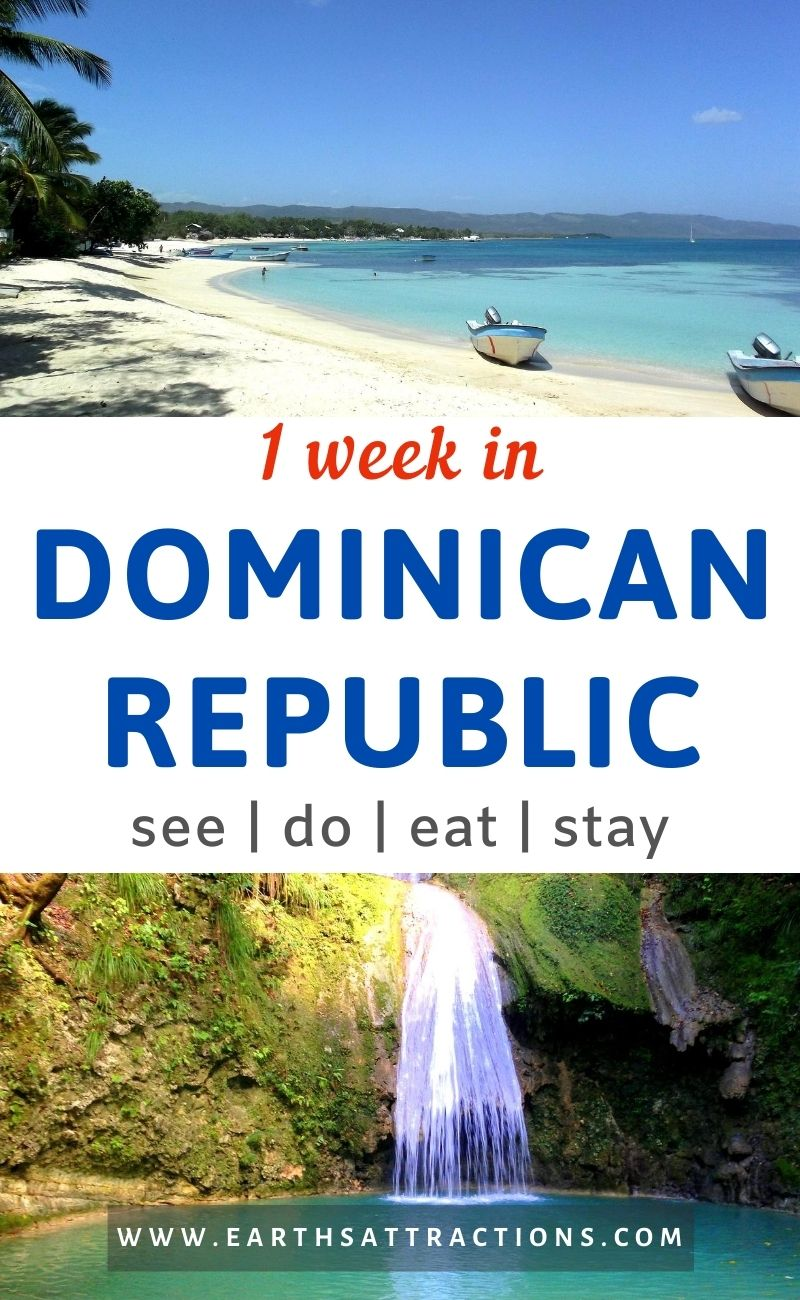 1 week in the Dominican Republic itinerary. Discover the perfect 7-day itinerary for the Dominican Republic that includes the best destinations in the Dominican Republic, fantastic outdoor activities, wonderful beaches, splendid cities, and more. #dominicanrepublic #travelitineraries #traveldestinations #dominicanrepublicitinerary #earthsattractions #northamerica