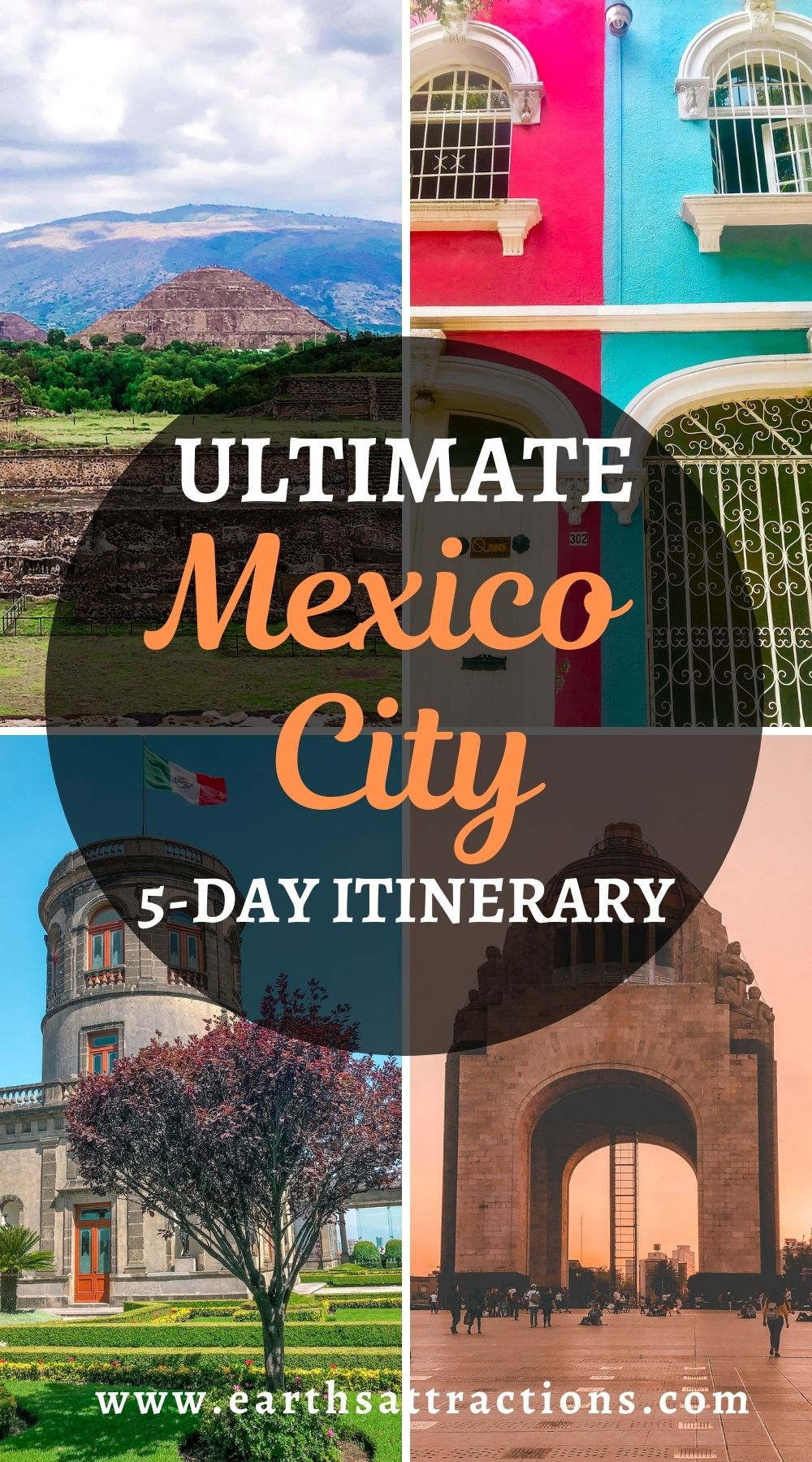 The ultimate Mexico City 5-day itinerary. Discover the best places to visit in Mexico City as well as where to eat in Mexico City from this Mexico City travel itinerary for five days. Plan your Mexico City trip now! Save this pin for later. #mexicocity #mexico #travel #travelitinerary #northamerica #mexicocityitinerary #earthsattractions #thingstodo