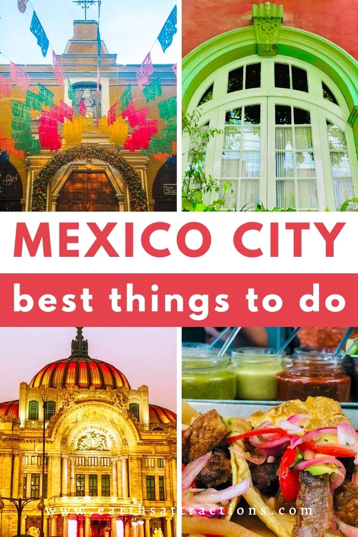 Mexico City thins to do. Use this perfect Mexico City itinerary for 5 days to discover the top Mexico City landmarks, the best Mexico City restaurants, and useful Mexico City travel tips. #mexicocity #mexico #travel #travelitinerary #northamerica #mexicocityitinerary #earthsattractions #thingstodo