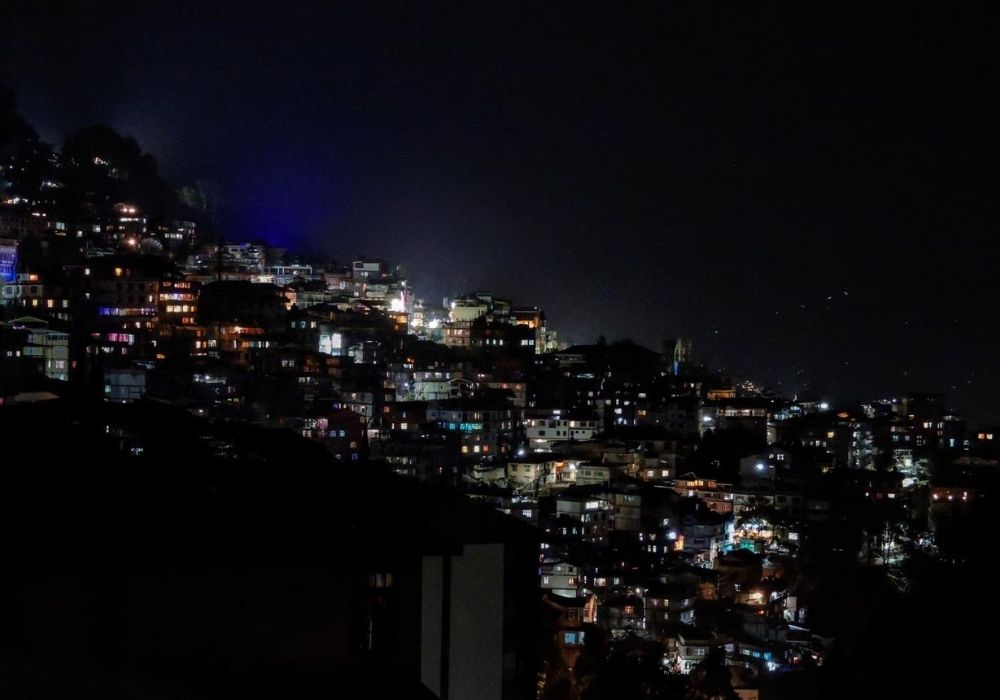 Night view of Gangtok as part of a 10 days in Sikkim trip