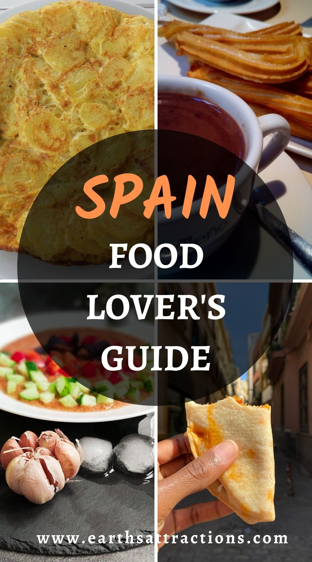 Food lover's guide to Spain: the top 16 Spanish dishes to try! This article presents you the best Spanish desserts, Spanish breakfasts, the top Spanish traditional food! Read it now and discover what to eat in Spain! #spain #spanishfood #spainfood #spanishfoods #food #traveleurope #traveldestination #travelfood #foodieguide #spainfoodieguide #eatinspain #earthsattractions