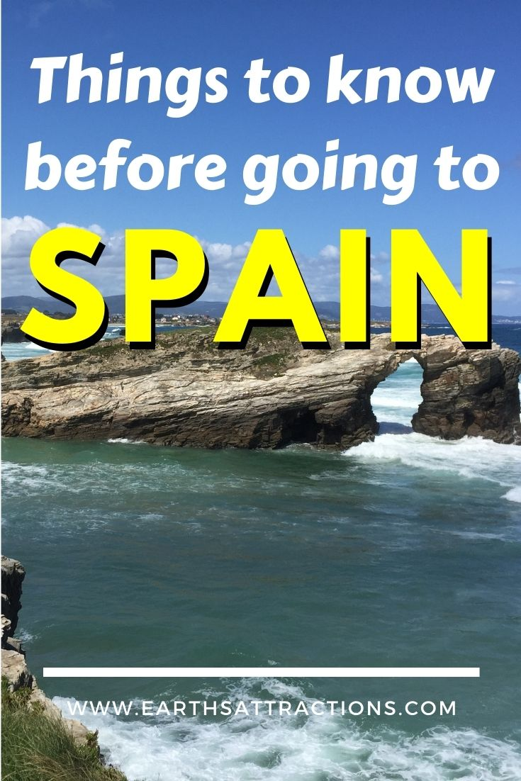 Things to know before going to Spain. This Spain travel blog covers everything you need to know before visiting Spain from Spanish dishes to Spanish traditions, from the best destinations in Spain to public holidays and beyond. Save this pin for later and read the article now! #spain #spaintips #spaintravel #europetravel #earthsattractions #spainfacts #spanishdishes #spanishfood #food #tapas #paella