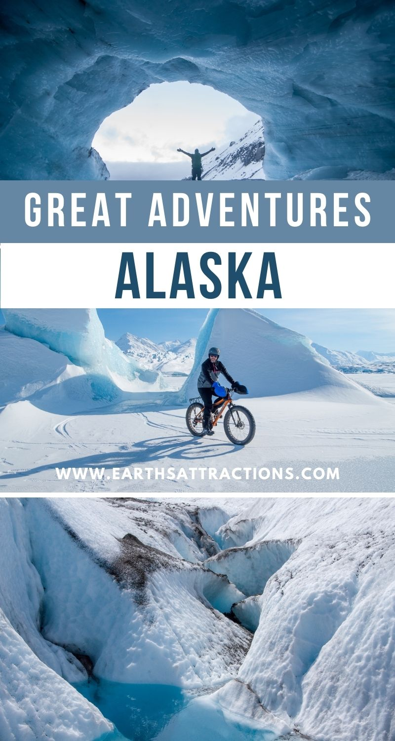 Great adventures in Alaska. Read this article to see the top Alaskan glaciers and to discover unforgettable Alaskan adventures. #alaska #adventure #usa #usartavel #earthsattractions #thingstodo #alaskathingstodo #glacier #glaciers