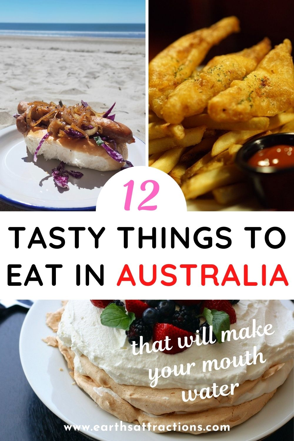 12 tasty Australian foods to try. Discover the best Australian dishes to eat on your trip. From amazing Australian desserts to iconic Australian breakfast dishes and wonderful Australian snacks - all is included. #australia #food #australianfood #foodaustralia #eataustralia #travelfood #travel #earthsattractions