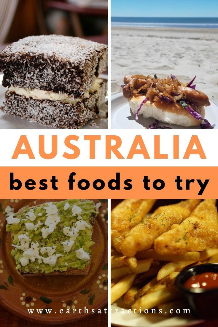 Wondering what to eat in Australia? This article presents you the best Australian foods to try! These mouthwatering Australian dishes will make your trip to Australia even more pleasant! Read the article now and save this pin for later! #australia #food #australianfood #foodaustralia #eataustralia #travelfood #travel #earthsattractions