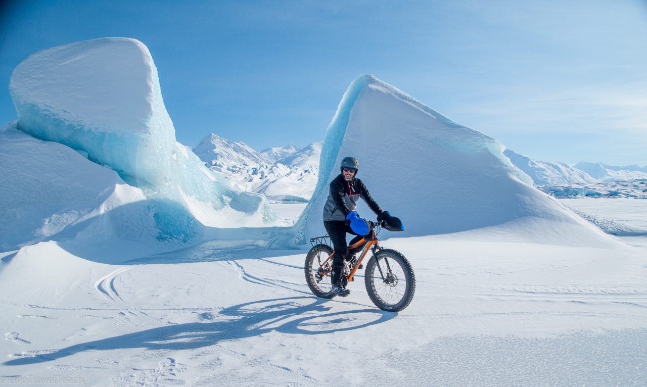 Mike biking to Knik Glacier. Read this article to discover the best adventures in Alaska