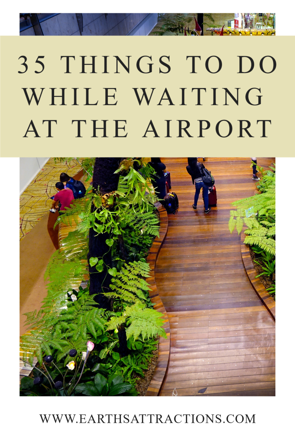 Waiting for a flight? Discover the best thigs to do at the airport. This is a selection of the best things to do before boarding. #travel #airport #airportactivities #airportthingstodo #traveltips #earthsattractions