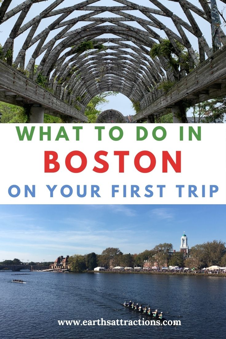 What to do in Boston on your first trip! Read thia Boston guide for first time visitors and discover where to go Boston sightseeing, places to eat in Boston, useful Boston tips and the best time to visit Boston. #boston #bostonguide #usatravel #bostonthingstodo #earthsattractions #traveldestinations #northamerica