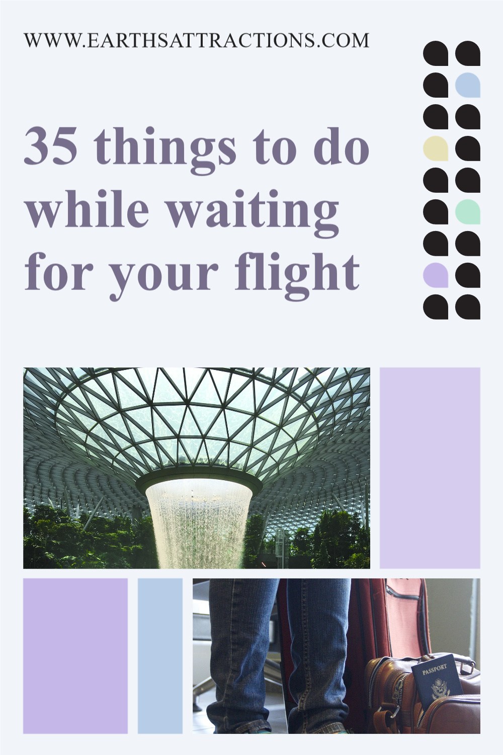 35 things to do while waiting for your flight. Discover the best activities before boarding! #travel #airport #airportactivities #airportthingstodo #traveltips #earthsattractions