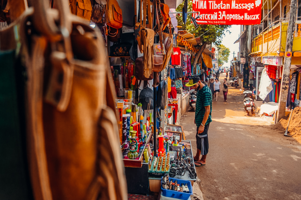Anjuna is one of the best places to visit in Goa - the Anjuna flea market is famous! Discover more things to do in Goa from this Goa travel guide