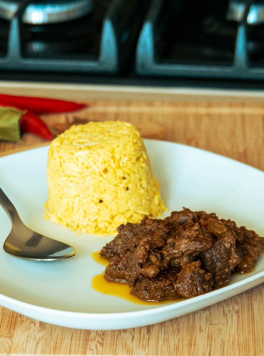 Beef Rendang Serving suggestion