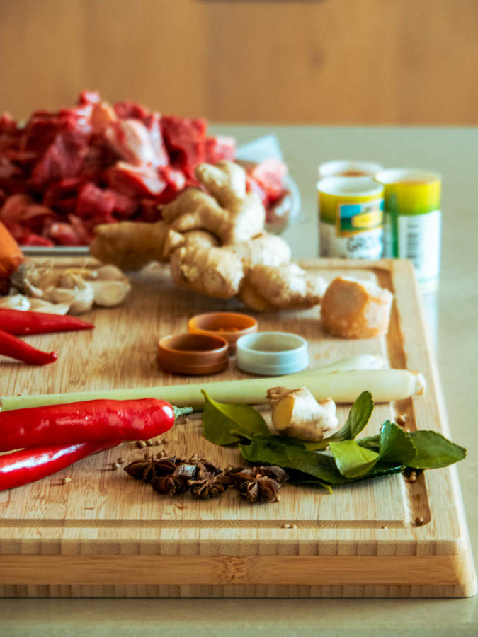 Beef rendang ingredients - what you need to make rendang