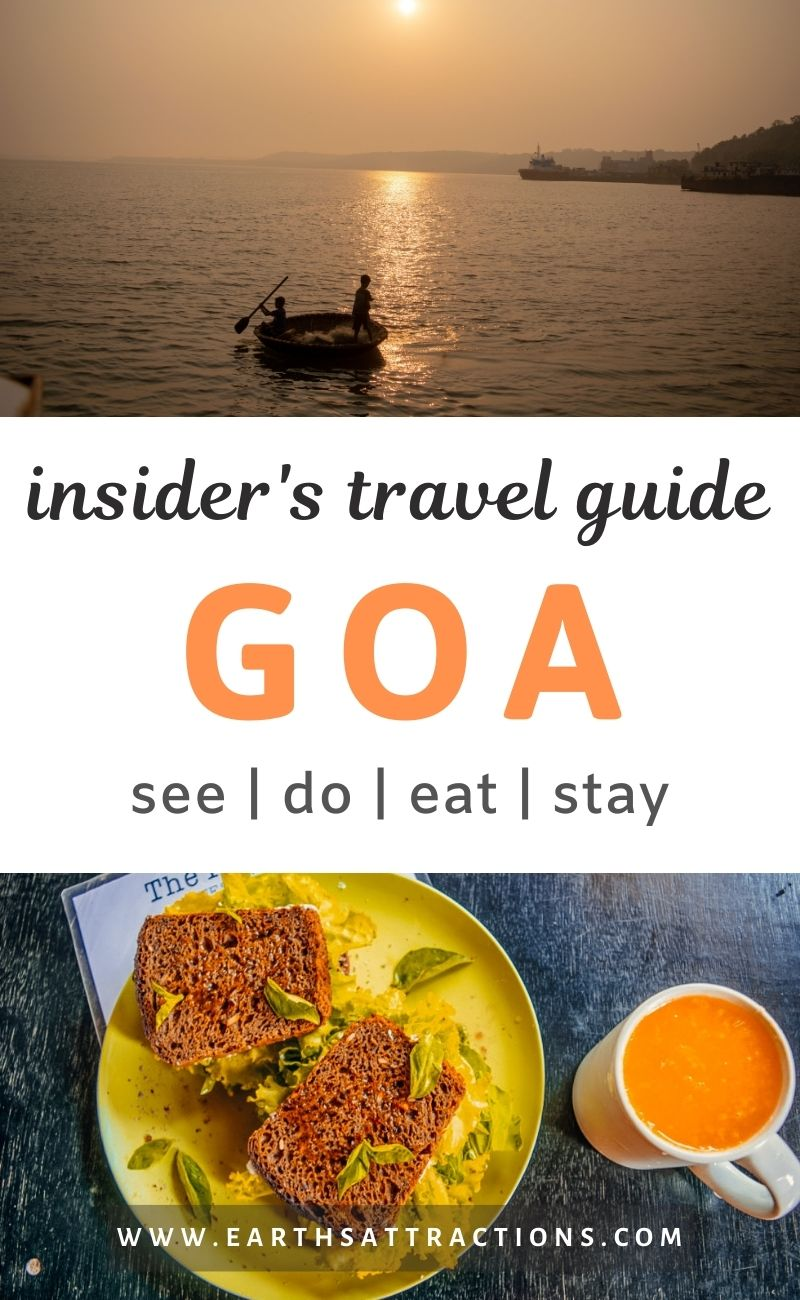Insider's travel guide to Goa. Discover the best Goa attractions, off the beaten path things to do in Goa, where to eat in Goa, Goa accommodation, and useful Goa tips. Create your Goa bucket list and the ultimate itinerary for Goa, India. #goa #goaindia #indiatravel #india #earthsattractions #traveldestinations #asia #asiatravel #goathingstodo #goatips #goarestaurants #goahotels